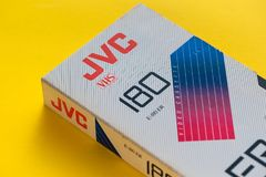 Videokassett för JVC VHS, retro video teknologi Royaltyfri Foto