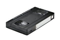 Videokassette lokalisiert auf weißem Hintergrund Stockfotografie