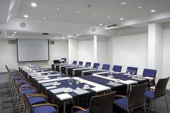 Videokonferenskorridor, bred vinkelöverblick Royaltyfri Foto
