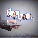 Videokonferenzgeschäftsteam stockfotos