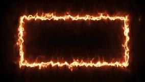 Videolengte geanimeerd brandkader stock videobeelden
