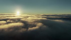 Videolengte van hemel en zonsopgang stock footage