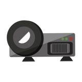 Videolokalisierte Ikone des projektors Gerät Stockbilder