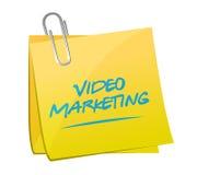 Videomarketing-Beitragsmitteilungsillustration lizenzfreie abbildung