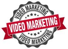 Videomarketing-Dichtung stempel stock abbildung