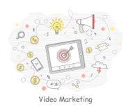 Videomarketing-Fahne Lizenzfreie Stockfotografie