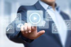 Videomarketing-Werbungs-Geschäfts-Internet-Technologie-Konzept lizenzfreies stockfoto