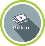 Videomedia beeld en emblemen Stock Foto