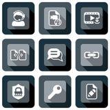 Videomedien und Webdesignikone Lizenzfreies Stockbild