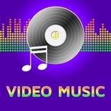 Videomusik stellt audio-visuelle Illustration 3d dar vektor abbildung