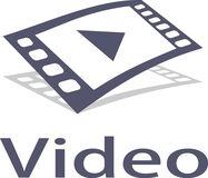 Videomuziek en embleembeelden Stock Fotografie