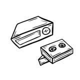 Videoplayer με δύο κασέτες Στοκ φωτογραφία με δικαίωμα ελεύθερης χρήσης