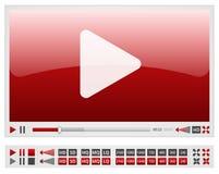 Videoplayer vermelho Fotos de Stock Royalty Free