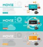 Videoproductie en Motie Grafisch Concept Royalty-vrije Stock Afbeelding