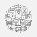 Videoproductieillustratie Royalty-vrije Stock Afbeelding