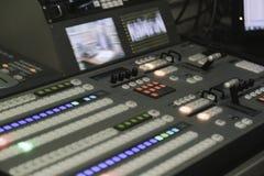 Videoproductieswitcher van Televisie-uitzending Royalty-vrije Stock Afbeelding