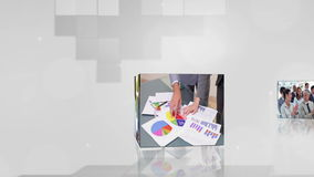 Videos of business on cubes Stock Images