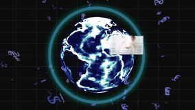 Videos of business people emerge from behind the earth with Earth image courtesy of Nasa.org Royalty Free Stock Images