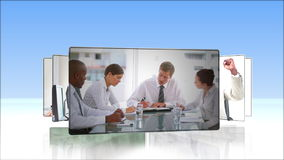 Videos of business people working Stock Image
