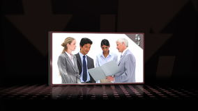 Videos of business team speaking Royalty Free Stock Photo