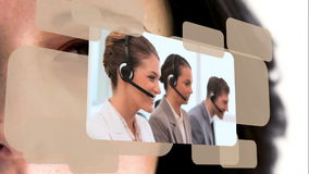 Videos of call center stock video footage