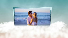 Videos of couple in honeymoon on clouds Stock Images