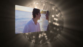 Videos of couple under the sunset Royalty Free Stock Images