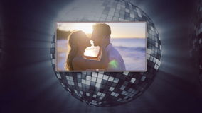 Videos of a couple under the sunset Royalty Free Stock Photo