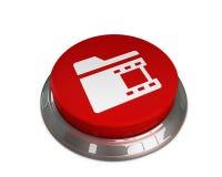 Videos Folder Icon. 3D illustration -Videos Folder Vector Icon Royalty Free Stock Image