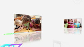 Videos of pupils in a classroom Stock Images