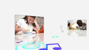Videos of a pupils at their desk Royalty Free Stock Photo