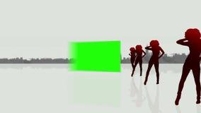 Videos of three green screens
