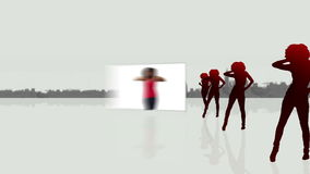 Videos of a woman dancing vector illustration