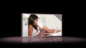 Videos of woman reading Stock Images