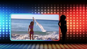 Videos of women dancing at beach Royalty Free Stock Image