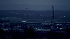 Videoshoten av aftonbygden stock video