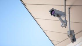 Videosorveglianza nella città, nella sorveglianza e nella videosorveglianza, all'aperto immagine stock libera da diritti