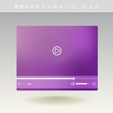 Videospeler voor Web en mobiele apps Royalty-vrije Stock Afbeelding