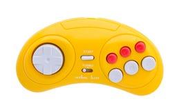 Videospelkonsol GamePad Isolerat på vit Royaltyfri Fotografi