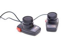 Videospelkontrollanter från 80-tal Arkivfoto