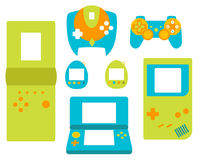 Videospelkontrollantgamepads sänker stil Royaltyfri Foto