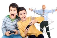 Videospelletjestijd Royalty-vrije Stock Afbeeldingen