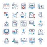 Videospelsymboler buntar royaltyfri illustrationer