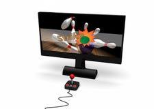 Videospiel auf Bildschirm Lizenzfreies Stockfoto