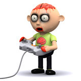 Videospiel des Zombies 3d Stockbilder