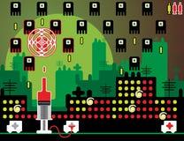 Videospiel mit Schüssen Stockfoto