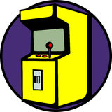 Videospiel-Säulengangmaschine Stock Abbildung