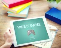 Videospiel-Steuerknüppel-Hobby-Konzept stockfotografie