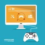 Videospieldesign Lizenzfreies Stockfoto