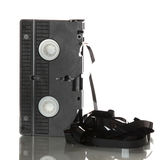 Videotape with damaged ribbon Royalty Free Stock Image